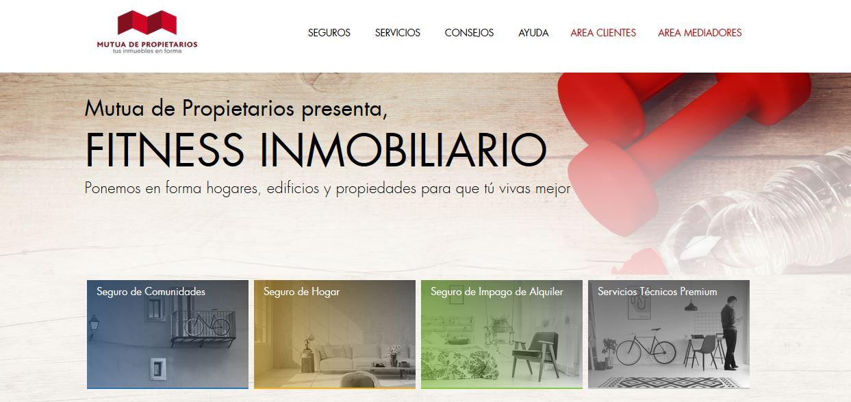 """Mutua de Propietarios presenta su nueva web con un concepto rompedor  """"El Fitness inmobiliario"""""""